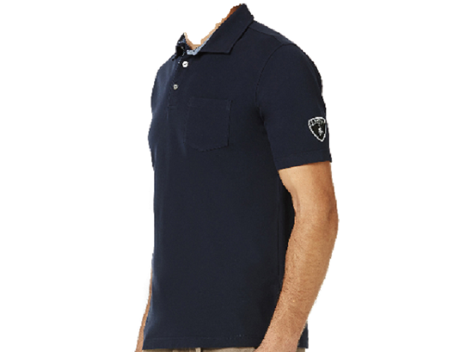 Lamborghini Men's Stretch Piquet polo - Dark Navy